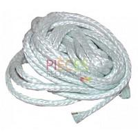Tresse fibreØ 6mm (longueur  5m) Tresse-Cordon en fibres minérales Remplace Avantageusement l'amiante et la fibre céramique pour l'étanchéité des Portes de chaudière, des Plaques de Foyer et des Brides de Fixation  de brûleur  jusqu'à 600°C - Référence :