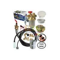 Le ColiFioul contient tous les composants pour réaliser la liaison entre le brûleur et le réserVoir (acier)  - Référence :