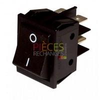 Interrupteur - Modèle pour ZH bipolaire - ZAEGEL HELD : Z62803801, Dimensions Lg:22x30,Fonction:marche/arrêt, Couleur Cadre et Touche:noir, Caract:16A(4) 250V - Référence :
