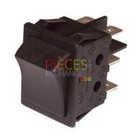 Interrupteur Inverseur - ZAEGEL HELD : A814402, Dimensions Lg:30x22 Fonction:2 positions alimentation au centre, Couleur Cadre et Touche:noir, Caract:16A(4) 250V. - Référence :