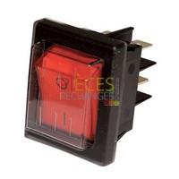 Interrupteur - Modèle pour ZH Rouge bipolaire étanche - ZAEGEL HELD : A814398, Dimensions Lg:30x22, Fonction:marche/arrêt étanche, Couleur Cadre:noir Couleur Touche:rouge, Caract:10A(6) 250V - Référence :