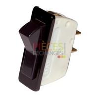 Interrupteur unipolaire - Modèle pour UNICAL et ACCORONI - UNICAL : 03125F, Dimensions Lg:31x11,Couleur Cadre:noir Couleur Touche:rouge, Caract:16A(4) 250V - Référence :
