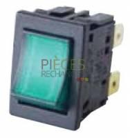 Interrupteur 2P vert - Référence :