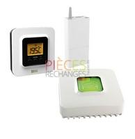 Pack comprenant un Thermostat d'ambiance tybox 5100 et une box domotique ip tydom 1.0. Pilotez votre Chauffage à distance, à partir d'un smartphone ou d'une tablette. Compatible avec les chaudières et les Pompes à chaleur. application  gratuite, sécurisée et sans abonnement. - Référence :