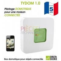 Le TYDOM 1.0 grâce à son application  permet d'utiliser un smartphone ou une tablette pour piloter de chez soi ou à distance, comme le Chauffage, les Volets roulants, les éclairages, l'alarme, etc... - Compatible TYBOX 137 & 33 - Référence :