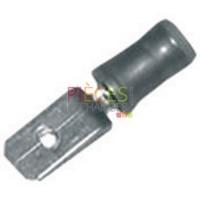 Cosse faston mâle isolée Ø 6.35mm (12 pièces) - Référence :