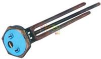 Résistance pliée blindée filetée 1 1/4 - Type ECB3 2000w. Compatible avec Thermostat embrochable Thermo-plongeur en cuivre avec Doigt de gant longueur  270 mm Livré avec Joint Élément plié 1 fois, lgmm:250/220, volt:220, watt:2000 - Référence :