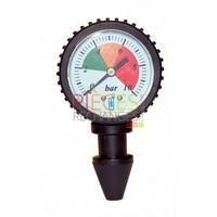 Manomètre  - Pression  de Robinet, vérification  de la Pression  d'eau Pression  connue en quelques secondes,Plage de 0 à 10 Bars, Sans Joint, Sans clé, Sans vissage, juste Par emboitement du cône de mesure - Référence :