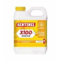Sentinel X100: Chauffage central inhibiteur de tartre Bidon de 1L,à utiliser en complément du X400 (existe en bidonde 20L) - Référence :