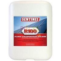 Sentinel R100: fluide caloPorteurformulé pour les systèmes solaires Thermiques fonctionnant jusqu'à 200°c. Il contient des inhibiteurs spécifiques permettant de protéger tous les métaux couramment utilisés dans les installations solaires, antigel -25°C,non toxique et biodégradable. Bidon de 20L - Référence :